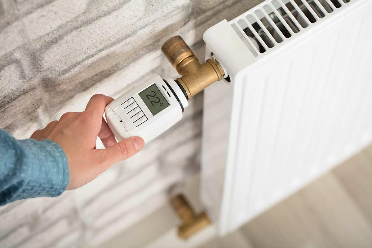 modernisierte Heizung-mit digitalem Thermostat